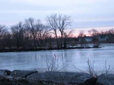 Mohawk River from the end of Washington Ave., Schenectady - 01Mar09