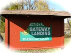 entry sign for Gateway Landing, along the Binnekill and the Mohawk River, Rotterdam-Schenectady NY 27Oct09