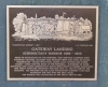 plaque describing Gateway Landing and Schenectady Harbor 1660-1820