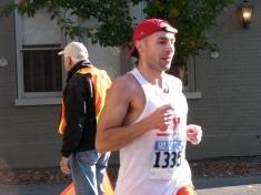 runner #1335 enters Polachek Square - Stockade-athon 2009