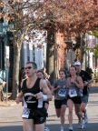 runners approaching Lawrence Circle at N. Ferry St. - Stockade-athon 2009