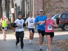 runners on Front St. nearing Washington Ave. - Stockade-athon 2009