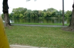 view from the play area swingset of the proposed site of the Riverside Park dock –29Sep2010