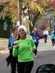 a contestant in a lime-green shirt passes 9 Front St. heading west toward Washington Ave. in the Schenectady Stockade - Stockade-athon 2010 - 07Nov2010