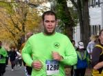 contestant #1219 runs up Washington Ave. heading south in the Schenectady Stockade - Stockade-athon 2010 - 07Nov2010