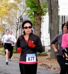 runner #677 passes 19 Washington Ave. heading south in the Schenectady Stockade - Stockade-athon 2010 - 07Nov2010