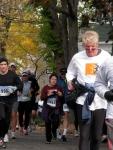 runners on Washington Ave. heading south toward Union St. in the Schenectady Stockade - Stockade-athon 2010 - 07Nov2010