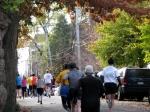 runners heading south on Washington Ave. toward Union St. in the Schenectady Stockade - Stockade-athon 2010 - 07Nov2010