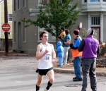 Runner #10 [Thomas O'Grady of Latham, who finished the race in 9th place] at the Lawrence Circle - Stockade-athon 2010 - 07Nov2010