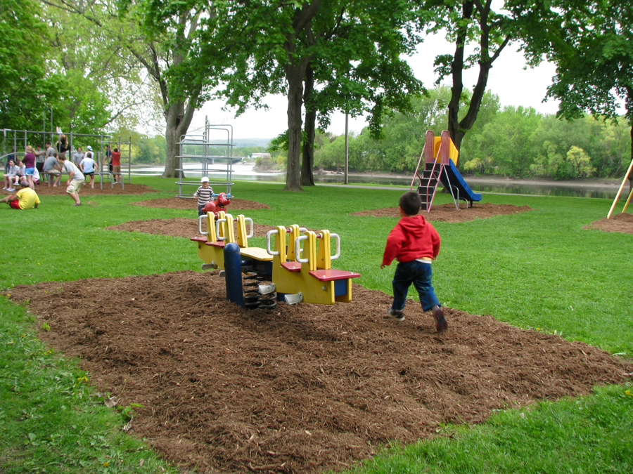 Backyard Playground Ground Cover : playground equipment ready for play with new mulch groundcover ? 11