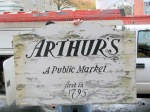 Arthur's Market sign being retired at the new Stockade Home Market - 35 N. Ferry St. in the Schenectady NY Stockade - 20Oct2011