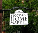 newly-hung sign for the new Stockade Home Market - 35 N. Ferry St. in the Schenectady NY Stockade - 20Oct2011