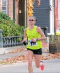 Runner #118 about to enter the Lawrence Circle at the halfway point of the race in the Schenectady Stockade  - Stockade-athon 2011 - 13Nov2011