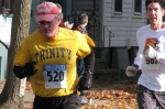 Stockade-athon 2011 runner #520 passing Lawrence Circle - Schenectady NY Stockade - 13Nov2011