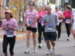 a group of Stockade-athon 2011 runners approach Washington Ave. - Schenectady NY Stockade - 13Nov2011