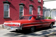 "Chevy Impala used in ""Muhammad Ali's Greatest Fight"" seen at corner of Washington Ave. and Front St. on May 11, 2012"
