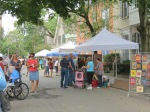 scene on Front St. during the 61st Stockade Outdoor Art Show - 08Sep2012