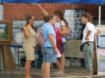 a scene on Green St. at N. Ferry during the 61st Stockade Outdoor Art Show - 08Sep2012