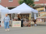 Cynthia Romano's exhibit at the 61st Stockade Outdoor Art Show - 08Sep2012