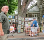 St. George's makes a fine background for an art show - 61st Stockade Villagers' Outdoor Art Show - 08Sep2012