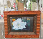 painting of flower in Judging Tent -  61st Stockade Villagers' Outdoor Art Show - 08Sep2012