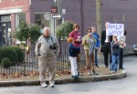fans at Lawrence Circle - Schenectady NY Stockade - Stockade-athon 2012 - 11Nov2012