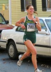 runner #701 (Murphee Hayes) pushes on - Front St.  - Stockade-athon 2012 - Schenectady NY Stockade - 11Nov. 2012