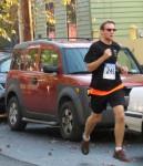 runner 249 (Benjamin Butryn) on Front St.  - Stockade-athon 2012 - Schenectady NY Stockade - 11Nov. 2012