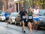 runners 47, 1602, 1726 and 767 on Front St.  - Stockade-athon 2012 - Schenectady NY Stockade - 11Nov. 2012