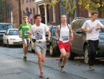 runners 1784 and 1809 on Front St.  - Stockade-athon 2012 - Schenectady NY Stockade - 11Nov. 2012