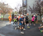 runners heading west on Front St. near N. Church St. Schenectady NY Stockade - Stockade-athon 2012 - 11Nov2012