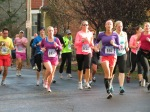 runners # 1852, 1722, 592, 331, 1218 and others on Front St. Schenectady NY Stockade - Stockade-athon 2012 - 11Nov2012
