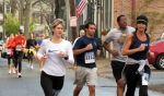 runners on Front St. near Washington Ave. Schenectady NY Stockade - Stockade-athon 2012 - 11Nov2012