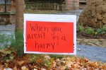 sign on Washington Ave. at Front St. - Stockade-athon 2012 - Schenectady NY Stockade - 11Nov2012