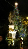 the 2012 Stockade Holiday Tree seen at Lawrence Circle just as the lighting ceremony ended - 5:30 PM 02Dec2012