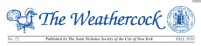 masthead of The Weathercock, newsletter of the St. Nicholas Society of NYC