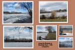 collage of photos taken around 1 PM along Riverside Park at the Mohawk River with ice floes – Schenectady NY –31Jan2013