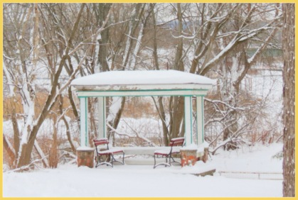 gazebo at rear of 26 Washingtonn Ave. - Schenectady NY Stockade - 09Feb2013
