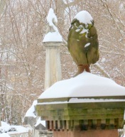 a detail from the St. George's Church cemetery - Schenectady NY Stockade - 09Feb2013 9AM
