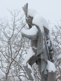 Lawrence under a mantel of snow  - Schenectady NY Stockade - about 9 AM 09Feb2013