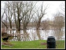 Mohawk River flood waters in the backyard of 4 Cucumber Alley in the Schenectady NY Stockade - 31Mar2010