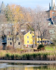 of Cucumber Alley in Schenectady NY as seen from Western Gateway Bridge