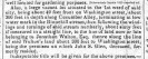 portion of a 1839 Schenectady Gazette classified ad for a property on Washington Ave. at Cucumber Alley