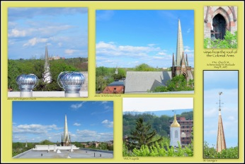 collage of photos taken on the roof of the Colonial Arms in Schenectady NY - 14May2013