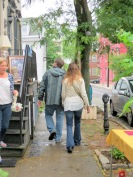 Brett and Stacey heading down Front St. - Stockade Sidewalk Sale - 08Jun2013