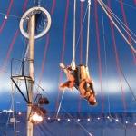 David and Blaze Jones on the trapeze