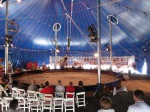 The Daring Jones Duo on the trapeze - Zoppé Circus in Schenectady NY - 21July2013