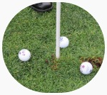 the three balls closest to the pin at the FCSS 2013 Gold Ball Drop – 13Sep2013