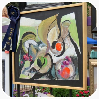 Peter Watrous' painting received the blue ribbon for best in show
