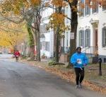 final runners heading up Washington Ave. – Sockadeaathon 2013 –10Nov2013
